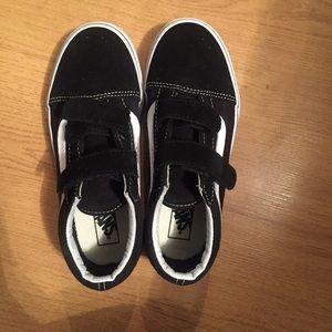 Vans off white black/white Velcro runners